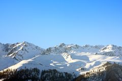 Mountains Snow in Swiss Alps Royalty Free Stock Photography