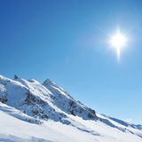 Mountains with snow in winter Royalty Free Stock Image