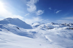 Mountains with snow in winter Royalty Free Stock Images