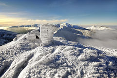 Mountains with snow in winter, Stock Photography