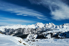 Mountains with snow in winter Stock Photos