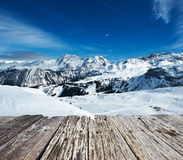 Mountains with snow in winter Stock Images