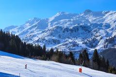 Mountains with snow in winter. Meribel Ski Resort Stock Photos