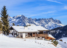 Mountains with snow in winter. Ski resort Soll, Tyrol Stock Images