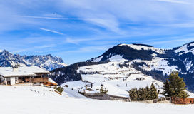 Mountains with snow in winter. Ski resort Soll, Tyrol Stock Photography