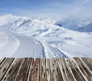 Mountains with snow in winter Royalty Free Stock Photo