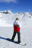 Mountains snowboarding Stock Images