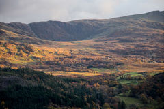 Mountains in Snowdonia. During Autumn Royalty Free Stock Image