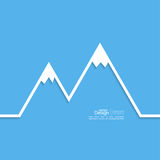 The mountains with snowy peaks. Royalty Free Stock Photo