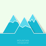The mountains with snowy peaks Stock Photos