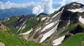 Mountains in Sochi region. Near Krasnaya Polyana Royalty Free Stock Photos