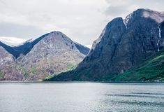Mountains of Sognefjord, Norway. stock photography