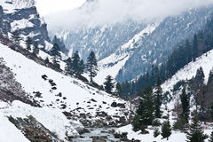 Mountains, Sonamarg, Kashmir, India. Mountains and Revers at  Sonamarg, Kashmir, India Royalty Free Stock Images
