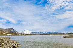 Mountains Sosnovsky on Novaya Zemlya (New Land) Royalty Free Stock Photos
