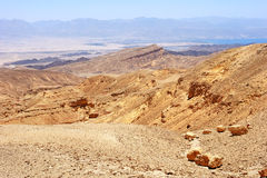 Mountains in the south of Israel, down to the Red Sea Stock Images