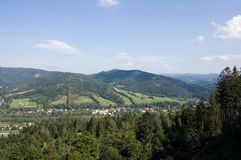 Mountains in south Poland Royalty Free Stock Images