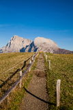 Mountains in South Tyrol. Seiser Alm and Rosengarten in South Tyrol Royalty Free Stock Photography