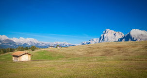 Mountains in South Tyrol. Seiser Alm and Rosengarten in South Tyrol Stock Photography