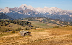 Mountains in South Tyrol. Seiser Alm and Rosengarten in South Tyrol Stock Photos