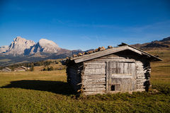 Mountains in South Tyrol. Seiser Alm and Rosengarten in South Tyrol Royalty Free Stock Images