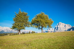 Mountains in South Tyrol. Seiser Alm and Rosengarten in South Tyrol Stock Photo