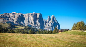 Mountains in South Tyrol. Seiser Alm and Rosengarten in South Tyrol Stock Image