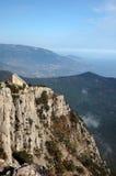 Mountains of southern coast of Crimea. Crimea. Seacoast at the foot of a hill Ah Petri Stock Photos