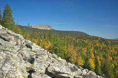 Mountains of Southern Ural Royalty Free Stock Photo