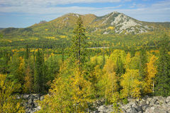 Mountains of Southern Ural Royalty Free Stock Photography