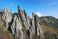 The mountains of the Southern Urals. Royalty Free Stock Image