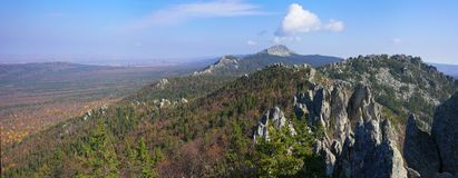 The mountains of the Southern Urals. Royalty Free Stock Images