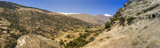 Mountains in the spanish Sierra Nevada Royalty Free Stock Images