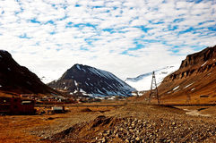 Mountains in Spitsbergen, Svalbard, Norway. Stock Photography