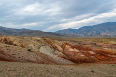 Mountains steppe desert color Royalty Free Stock Photo