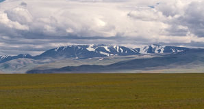Altai: mountains steppe Royalty Free Stock Photos