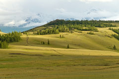 Mountains steppe landscape Royalty Free Stock Photo