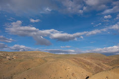 Mountains, the steppe and the sky Royalty Free Stock Photography