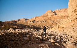 Mountains in stone desert nead Dead Sea Royalty Free Stock Photos