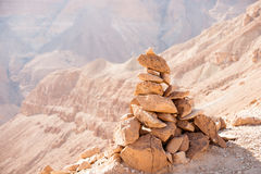 Mountains in stone desert nead Dead Sea Royalty Free Stock Photography