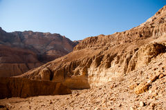Mountains in stone desert nead Dead Sea Royalty Free Stock Image