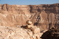 Mountains in stone desert nead Dead Sea Royalty Free Stock Photo