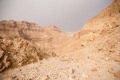 Mountains in stone desert nead Dead Sea Royalty Free Stock Photos