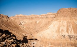 Mountains in stone desert nead Dead Sea Stock Photos