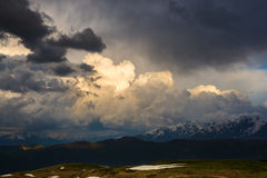 Mountains before the storm. Dramatic landscape Stock Photos