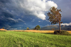 Mountains storm landscape stock image