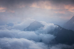 Mountains stormy weather Royalty Free Stock Image