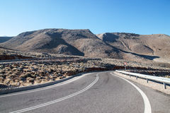 Mountains street. Lonely street on the mountains in the south of Crete, Greece Stock Photo