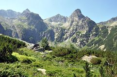 Mountains in summer, High tatras,Slovakia,Europe Stock Photography