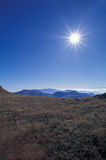 Mountains with sun Stock Photo