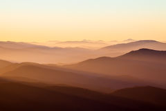 Mountains and sun Royalty Free Stock Photography